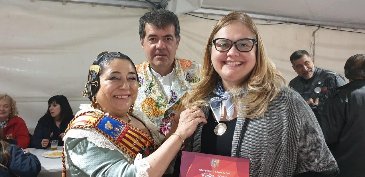 La falla Espartero G.V Ramón y Cajal recibe a la delegación deexpertos enindumentaria de Unesco (31)