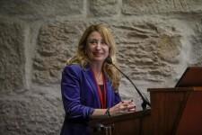 La pdta. del ICOMV, Dra Hurtado, durante su intervención en el III Congreso Internacional de Cooperación