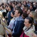 Ábalos y Casado coinciden en el balcón del Ayuntamiento de València para presenciar la última mascletà
