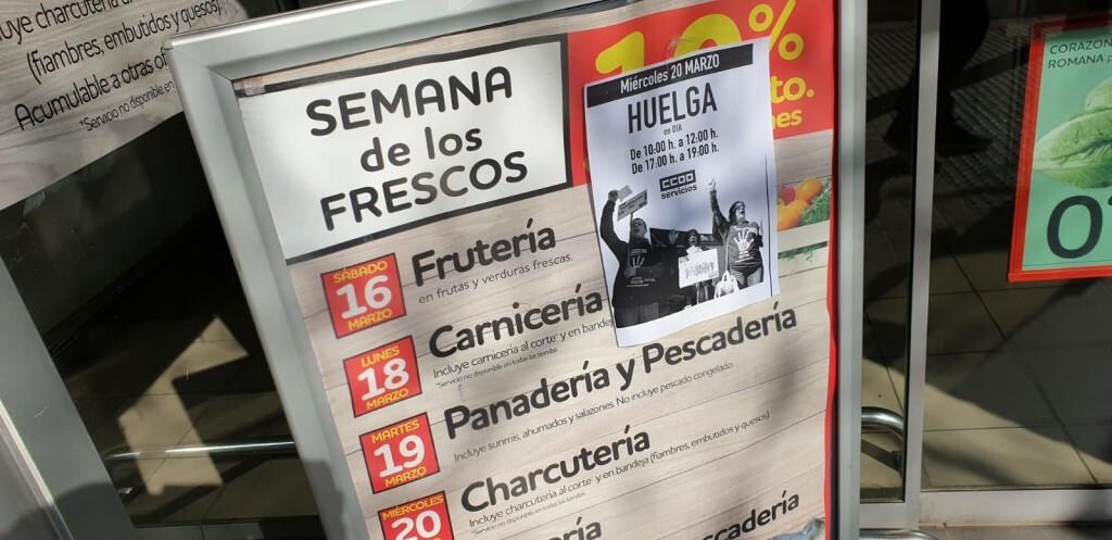 huelga supermercados DIA