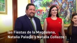 Moliner recibe a las reinas de las Fiestas de la Magdalena