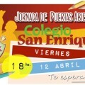 Cartel Puertas Abiertas Colegio San Enrique