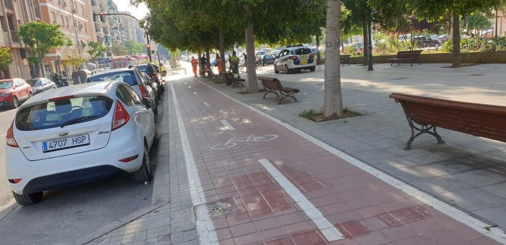 Atropello de una viandante por un ciclista en Valencia (1)