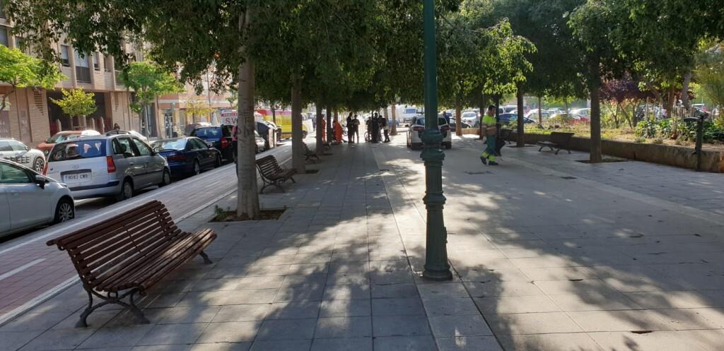 Atropello de una viandante por un ciclista en Valencia (2)