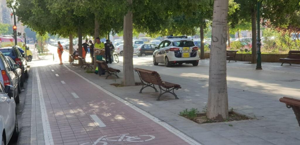 Atropello de una viandante por un ciclista en Valencia (3)