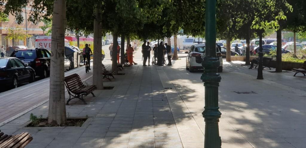 Atropello de una viandante por un ciclista en Valencia (4)