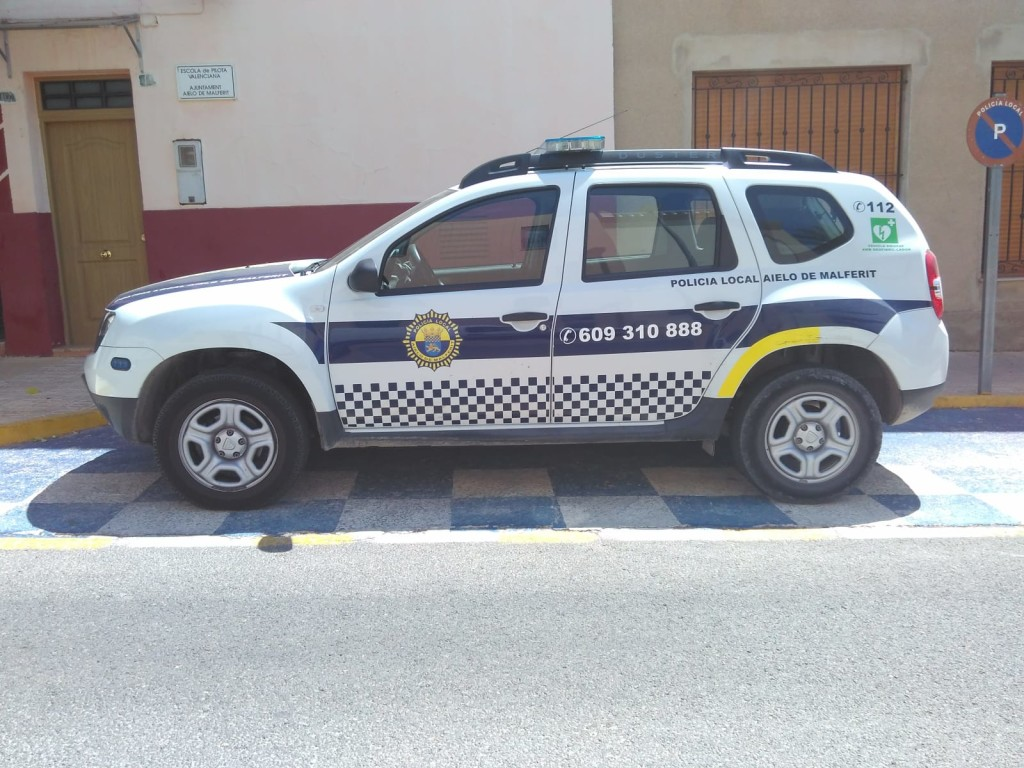 vehic policial aielo