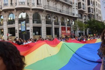Marcha en València del Orgullo LGTBI+ para celebrar los avances y no dar ni un paso atrás en derechos (10)