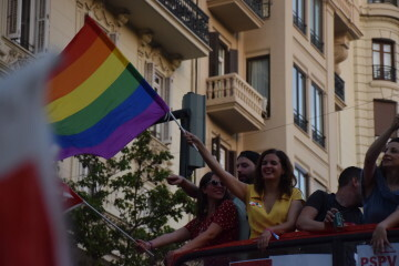 Marcha en València del Orgullo LGTBI+ para celebrar los avances y no dar ni un paso atrás en derechos (170)