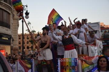 Marcha en València del Orgullo LGTBI+ para celebrar los avances y no dar ni un paso atrás en derechos (202)