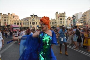 Marcha en València del Orgullo LGTBI+ para celebrar los avances y no dar ni un paso atrás en derechos (225)