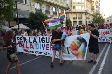 Marcha en València del Orgullo LGTBI+ para celebrar los avances y no dar ni un paso atrás en derechos (87)