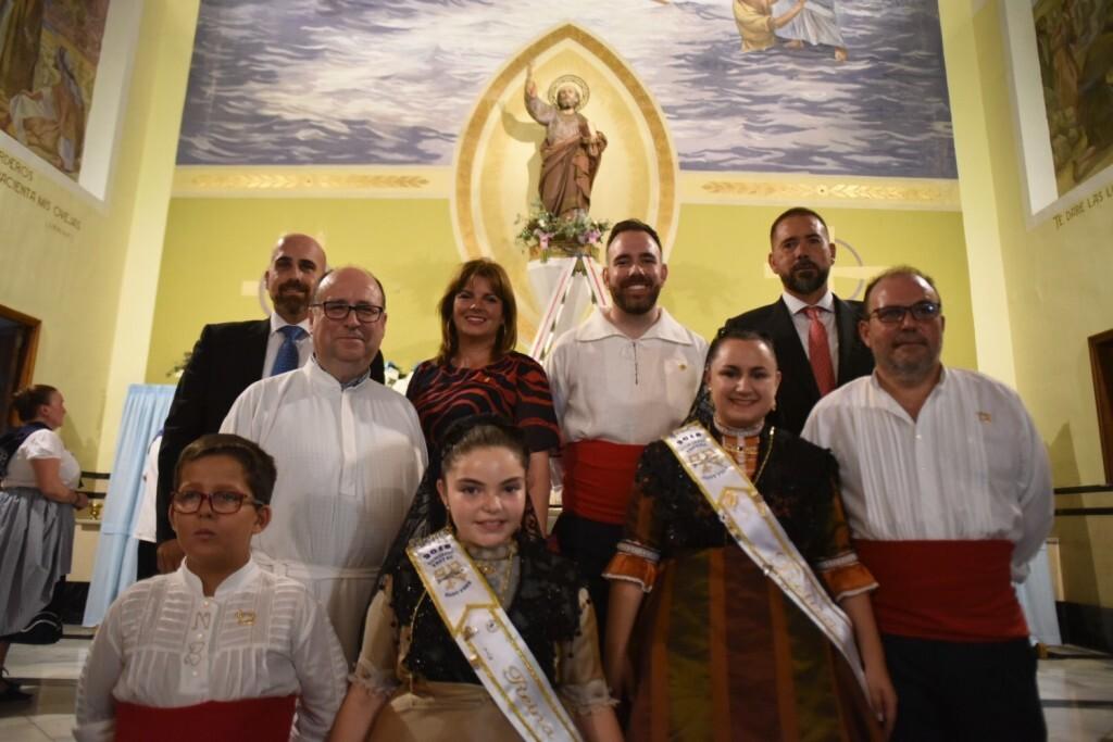 Processó marítima en honor a Sant Pere, que ha eixit de l'església de Sant Pere del Grau de Castelló per a arribar a la dàrsena pesquera (1)