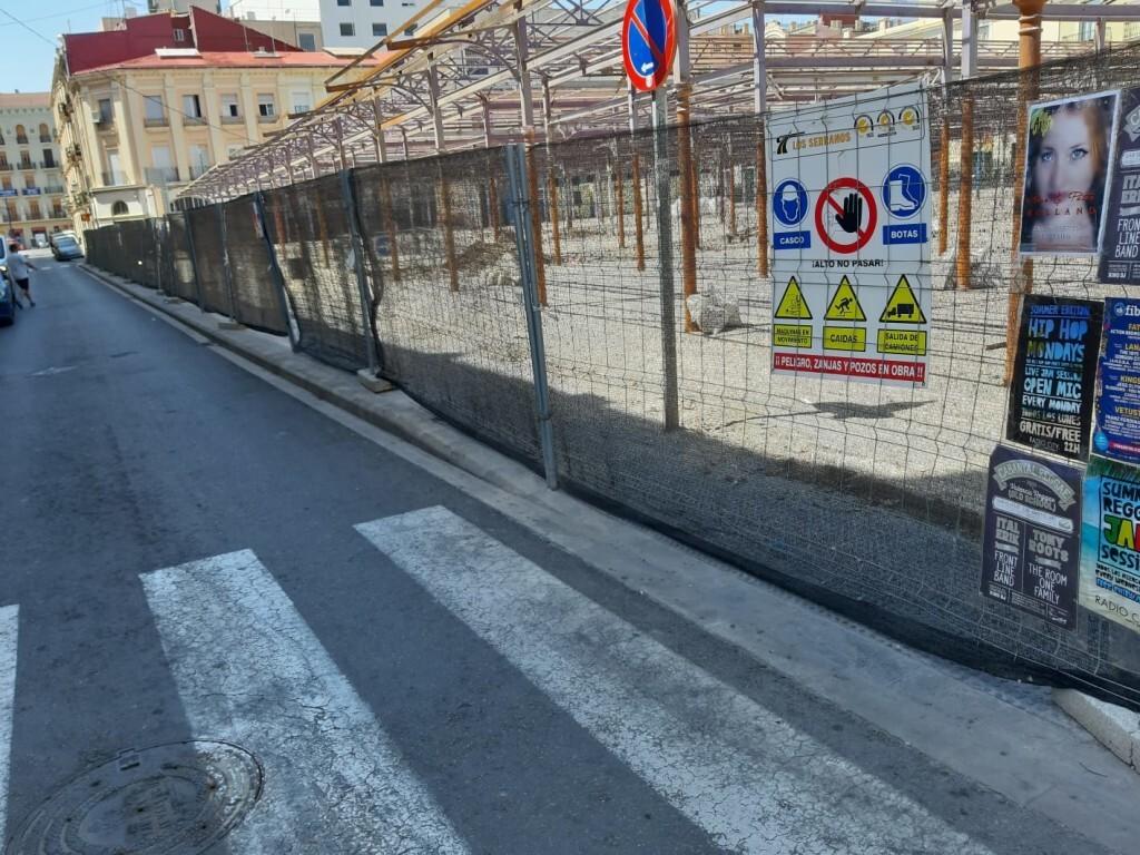 Obras Mercado Grao de Valencia julio 2019