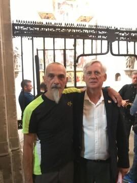 Antonio Aiardi, primer peregrino internacional en recorrer a pie los 518 kms del camino del Santo Grial (2)