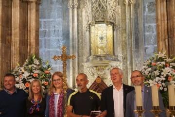 Antonio Aiardi, primer peregrino internacional en recorrer a pie los 518 kms del camino del Santo Grial (4)