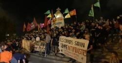 9Oct.- Las manifestaciones del 9 d'Octubre terminan con algunos momentos aislados de tensión  Final de la manifestación de la Comissió 9 d'Octubre   10/9/2019