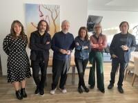 Responsable de Marketing del Restaurante Balandret, Nuria García, y los diseñadores Ibán Ramón, Pepe Cosín, Virginia Lorente, Marisa Gallén y Carlos Tíscar.