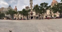 """Valencia.- La peatonalización de la Plaza del Ayuntamiento se hará """"sin ensayos"""" y con """"soluciones definitivas""""  Plaza del Ayuntamiento de València   9/4/2019"""
