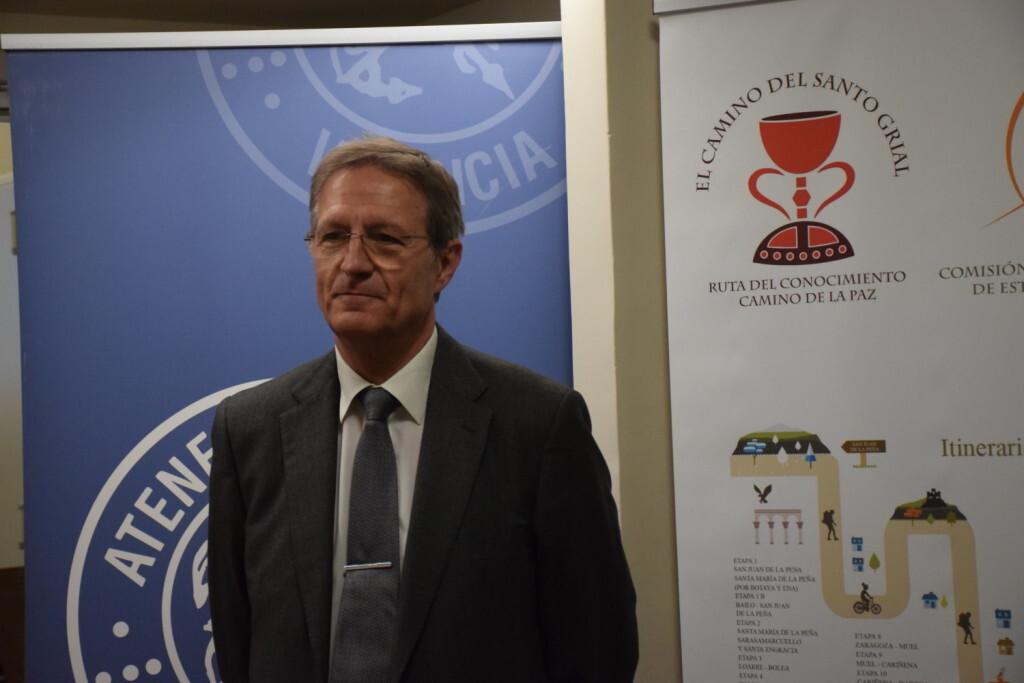 Asistentes Presentación del consorcio europeo del Camino del Santo Grial en el Ateneo de Valencia (10)