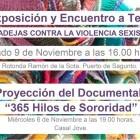 La bufanda kilométrica contra la violencia machista se expondrá en Sagunto