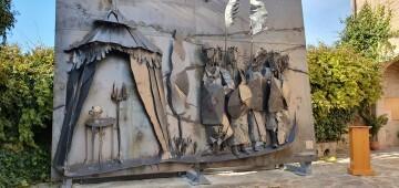 Inauguración de la primera escultura del Camino del Santo Grial en Barracas 20191120_113321 (6)