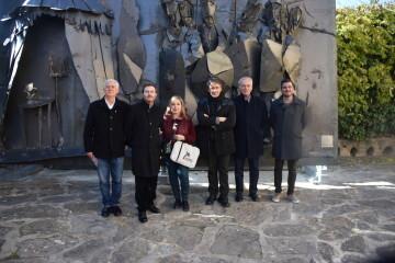 Inauguración de la primera escultura del Camino del Santo Grial en Barracas 20191120_113321 (90)