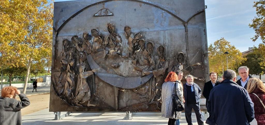 Inauguración de la segunda escultura del Camino del Santo Grial, esta vez en Massamagrell 20191125_124737 (1)