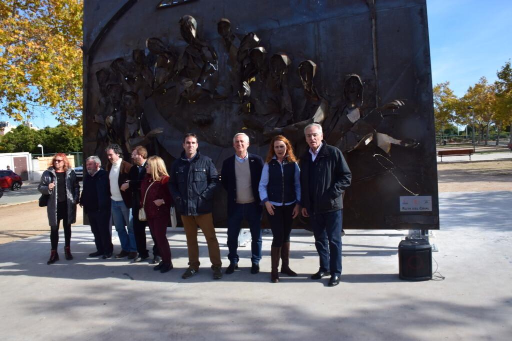 Inauguración de la segunda escultura del Camino del Santo Grial, esta vez en Massamagrell 20191125_124737 (23)