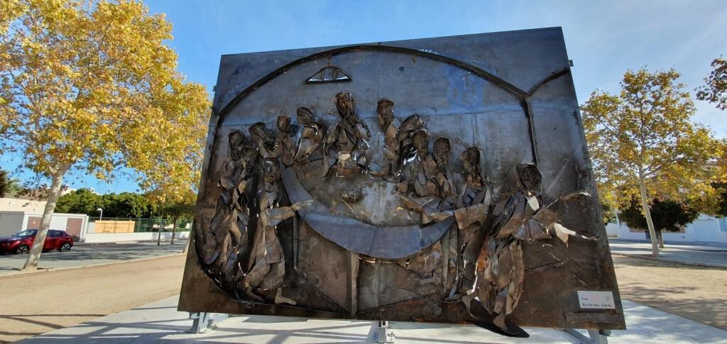 Inauguración de la segunda escultura del Camino del Santo Grial, esta vez en Massamagrell 20191125_124737 (4)