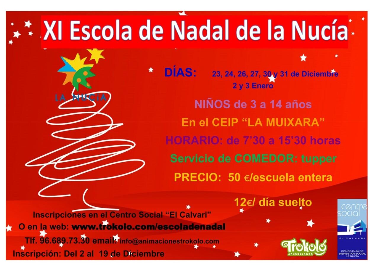 La Nucia cartel escola de nadal 2019