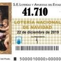 PRIMER CUARTO PREMIO Nº 41.710 de la lotería de Navidad