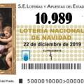 SEGUNDO PREMIO Nº 10.989 de la lotería de Navidad