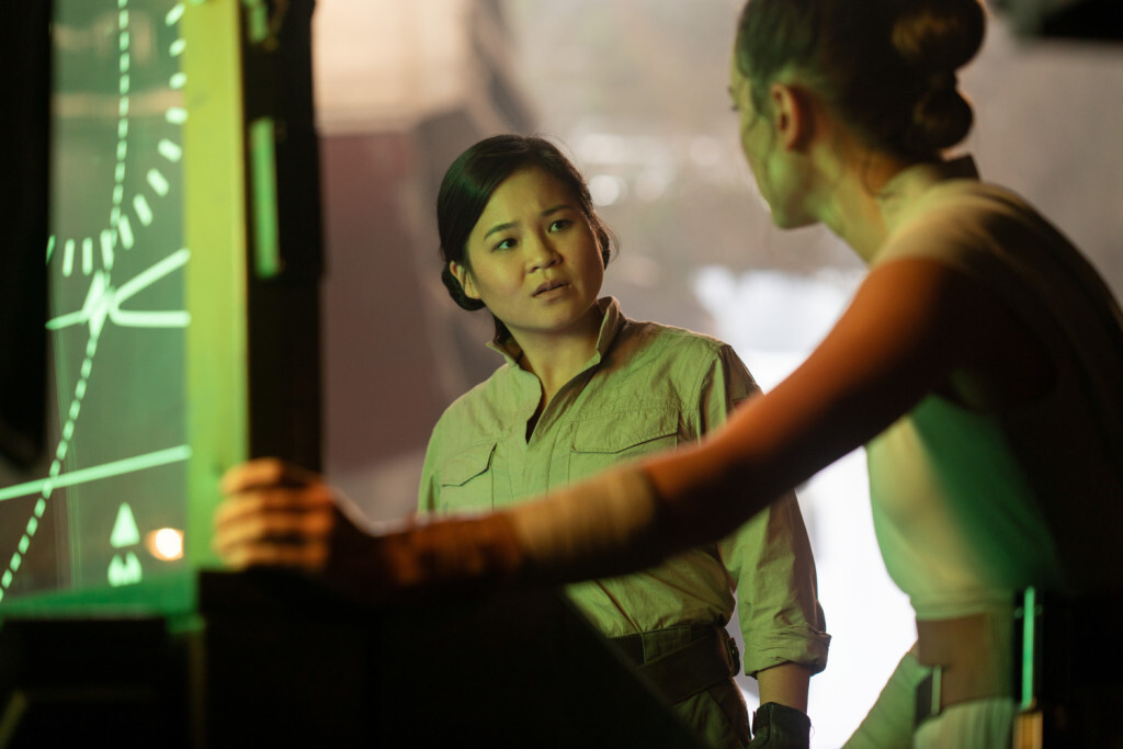 Kelly Marie Tran is Rose and Daisy Ridley is Rey in STAR WARS: THE RISE OF SKYWALKER.