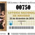 TERCER PREMIO Nº 750 de la lotería de Navidad