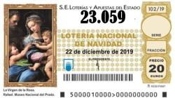 Tercer quinto premio de la lotería de Navidad el 23.059