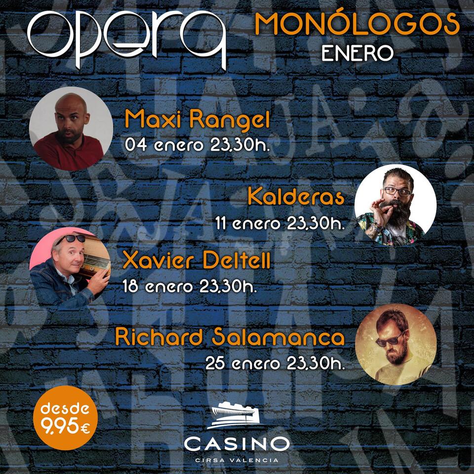 cartel mnologos enero casino cirsa valencia