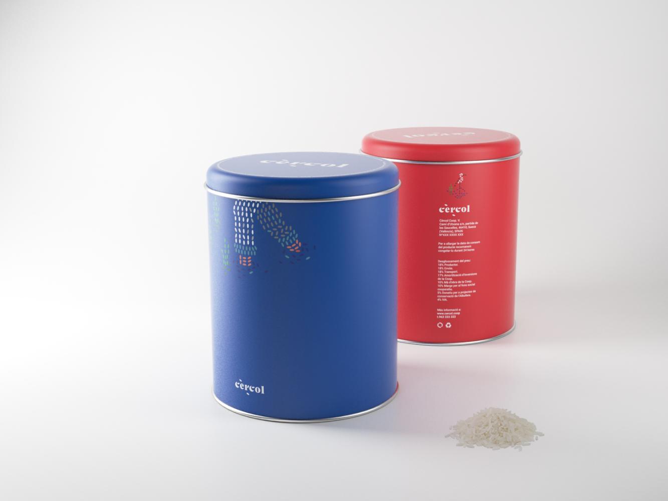 cercol packaging rojo-azul