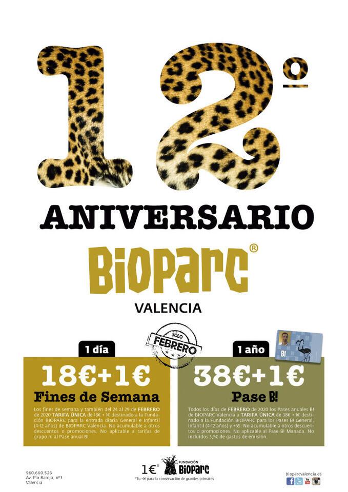 BIOPARC Valencia celebra su 12º Aniversario con una promoción con causa