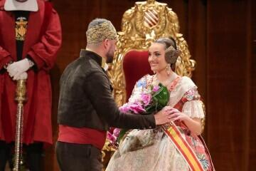 La exaltación de Consuelo Llobell Frasquet Fallera mayor de Valencia en imágenes 2020 (6)