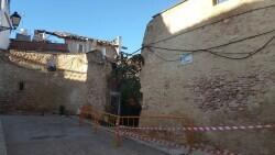 Las peligrosas instalaciones de la policía local de Alberic y el derrumbe de la casa colindante 20200130_152549 (2)