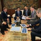 Ximo Puig recibe el informe del BBVA sobre la situación económica de la Comunitat Valenciana en el primer semestre de 2020
