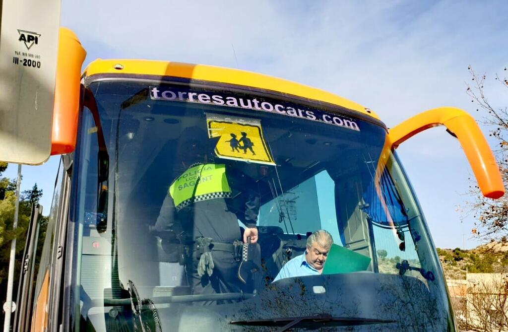 Campaña Policía Local transporte escolar