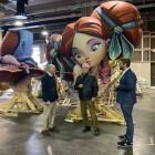 El alcalde de València, Joan Ribó, ha visitó los almacenes de Feria València