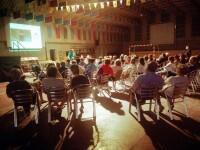 Momento de la conferencia el Camino del Santo Grial en San Martín