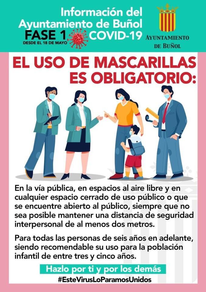 Banner uso obligatorio mascarillas
